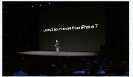 iPhone Xのみバッテリの持ちがアップ