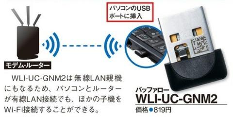 デスクトップでも無線でのネット接続を可能に