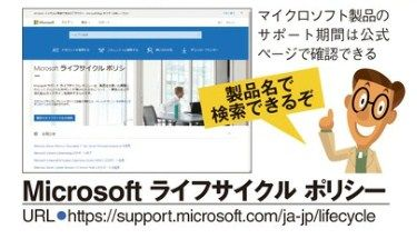 Windowsのメインストリームサポートは5年で終了