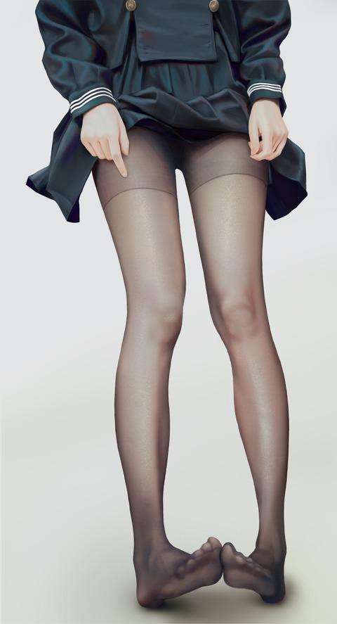 178ebcb1 s - 【二次】エッチに見えるストッキング履いた美少女のエロいイラスト:その14