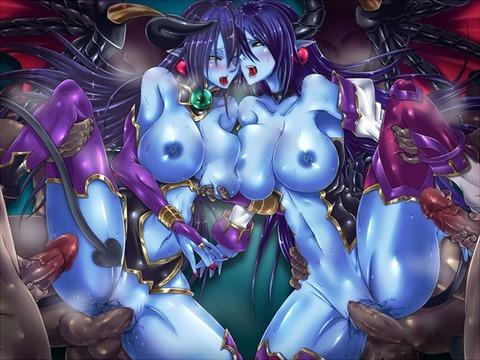 28362d7e s - 【二次】青いモンスター娘さんのエロイラスト