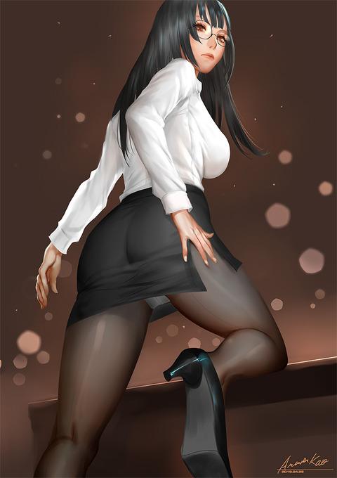 abe44cfe s - 【二次】エッチに見えるストッキング履いた美少女のエロいイラスト:その16