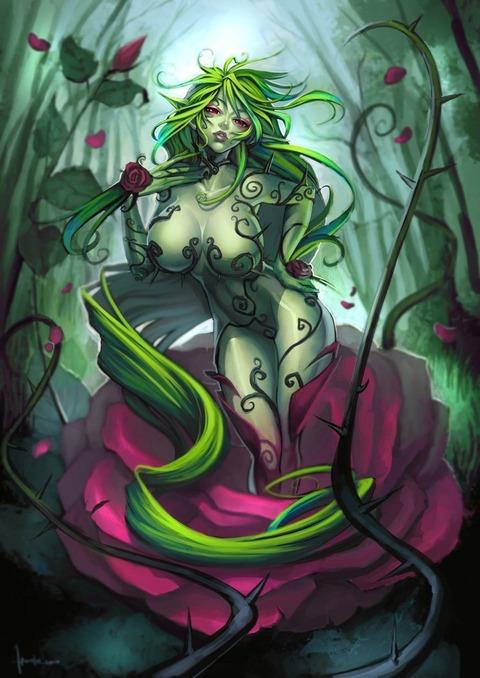 cf7c2377 s - 【モンスター娘】アルラウネちゃん(植物の妖精)の二次エロ画像