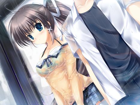 濡れた制服 nure seihuku68