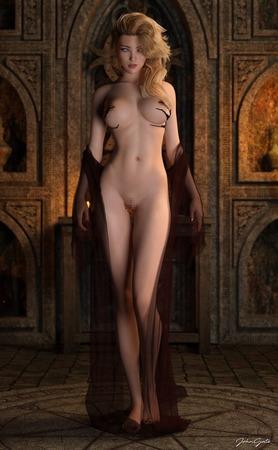 45409966 s - 【2次】この美少女はCGか?人間か?実写のようなクオリティの3Dイラスト:その3