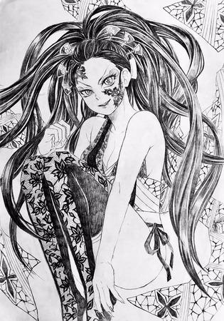 850ec063 s - 【鬼滅の刃】花魁、堕姫(上弦の陸)のエロ画像