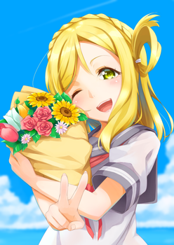 85d3e3f1 s - アニメ:「ラブライブ!サンシャイン!!」小原鞠莉ちゃんの美少女すぎる二次エロ画像まとめ