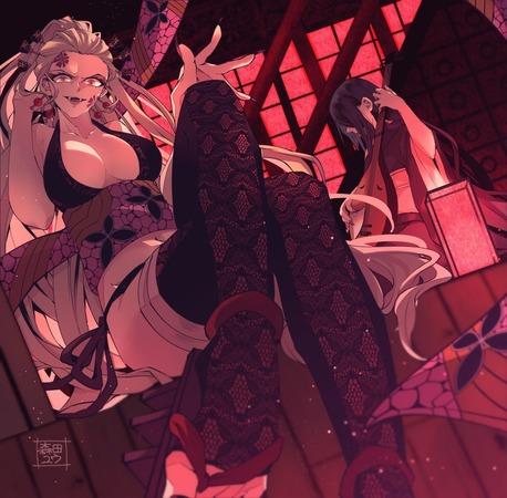 9737098d s - 【鬼滅の刃】花魁、堕姫(上弦の陸)のエロ画像