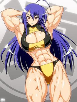 97d6e4fc s - 筋肉質の引き締まったボディの美少女エロ画像まとめ|二次|