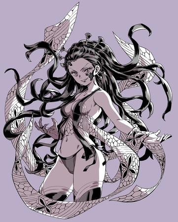 987fb187 s - 【鬼滅の刃】花魁、堕姫(上弦の陸)のエロ画像