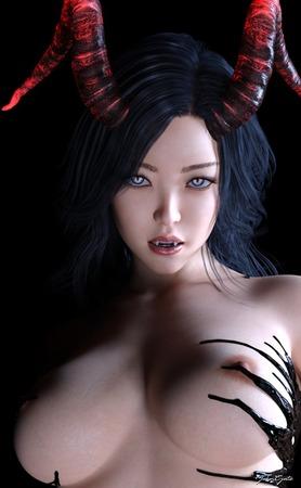 a7b28959 s - 【2次】ハイクオリティすぎるCGのサキュバスお姉さんに犯されるエロ画像