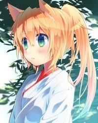 af22deca s - 【二次】ふさふさモフモフの獣耳がついてる女の子のエロ画像