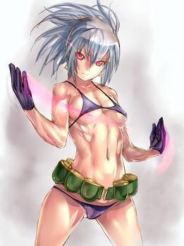 f5a2e0fb s - 筋肉質の引き締まったボディの美少女エロ画像まとめ|二次|