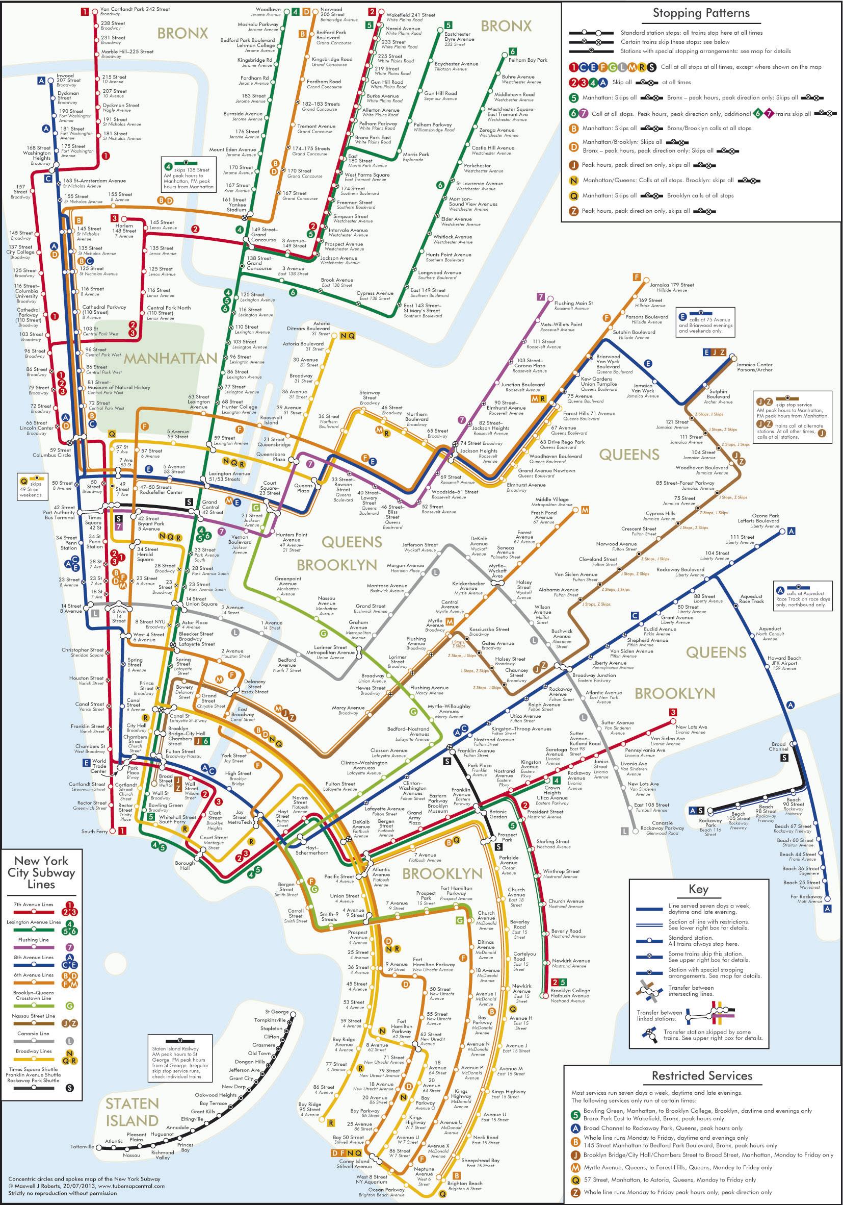 Manhattan Street And Subway Map.An Alternative Nyc Subway Map Joe My God