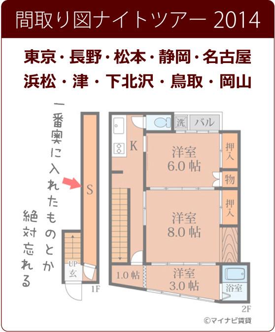間取り図ナイトツアー2014