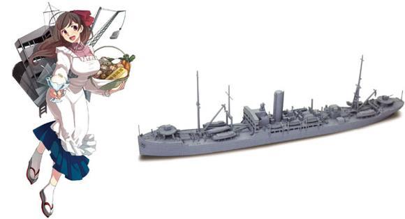 艦隊これくしょん プラモデル 24 艦娘 給糧艦 間宮