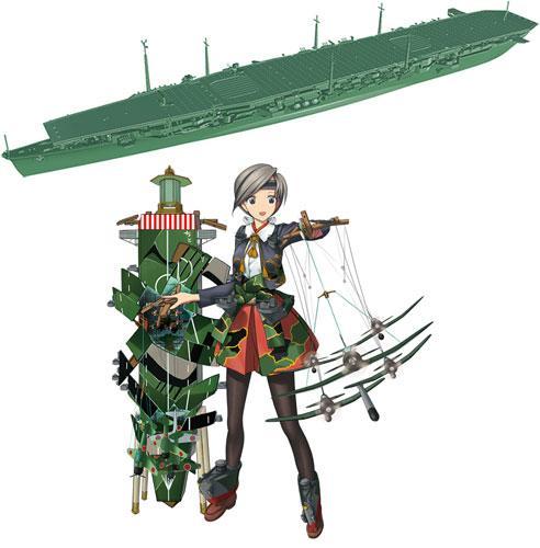 1-700 艦隊これくしょん プラモデル 18 艦娘 軽空母 千歳