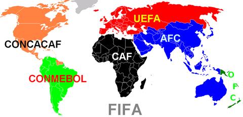 FIFA_Kontinentalverbände