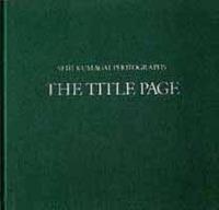 熊谷聖司 写真集「The Title Page」縮小