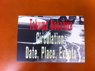 中平卓馬写真集『サーキュレーション−−日付、場所、行為』1