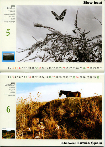 尾仲浩二 2012年カレンダー「12 Books」1