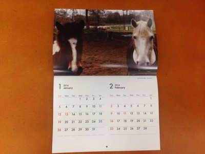 尾仲浩二 2014年カレンダー HORSE 1