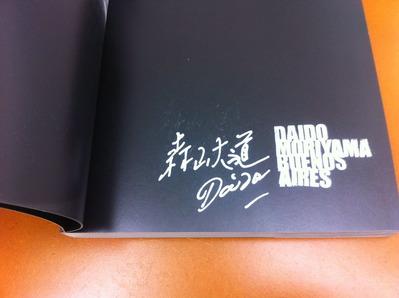 森山大道写真集『BUENOS AIRES』サイン