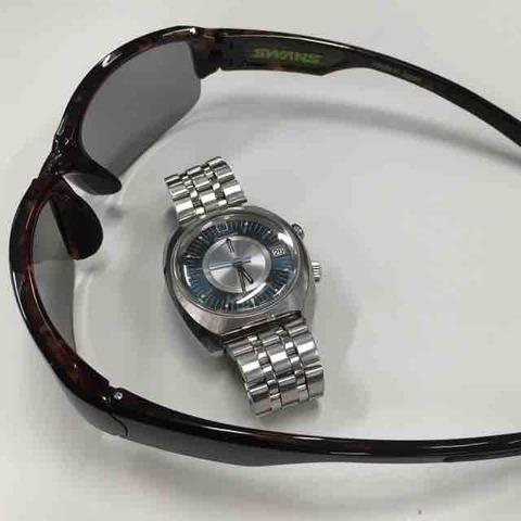 お気に入りのサングラス GW-3701 (and OMEGA Memomatic)
