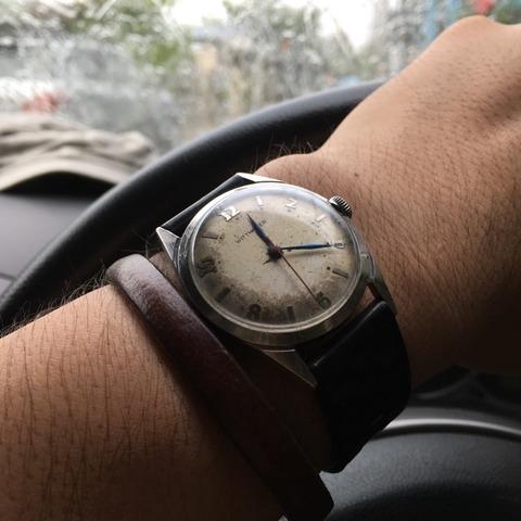 Wittnauer 手巻き時計の美しいリーフハンズ