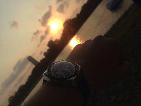 夕陽とMeangraf Super