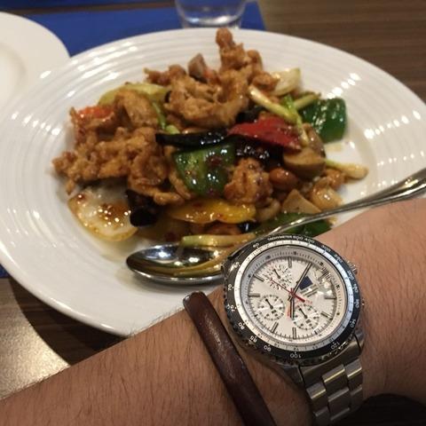 鶏肉とカシューナッツ炒め x SEIKO SpaceMove