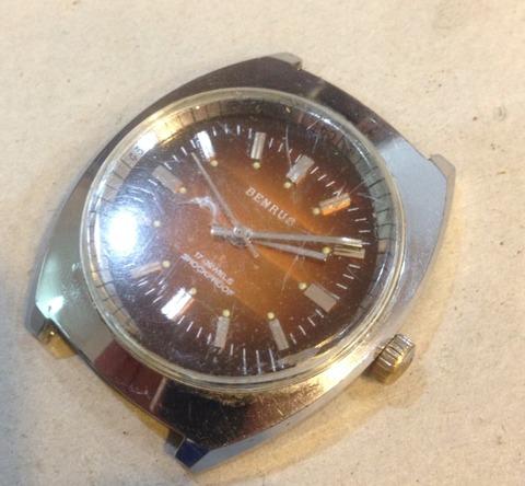 ベンラス 手巻き時計の修理とケース・風防研磨