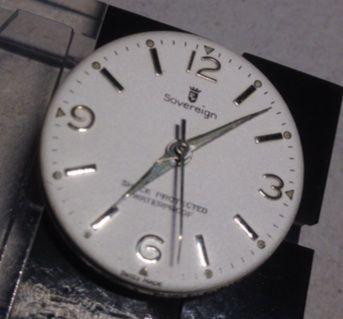 ジャンク品修理 SOVEREIGNの手巻き時計 続き
