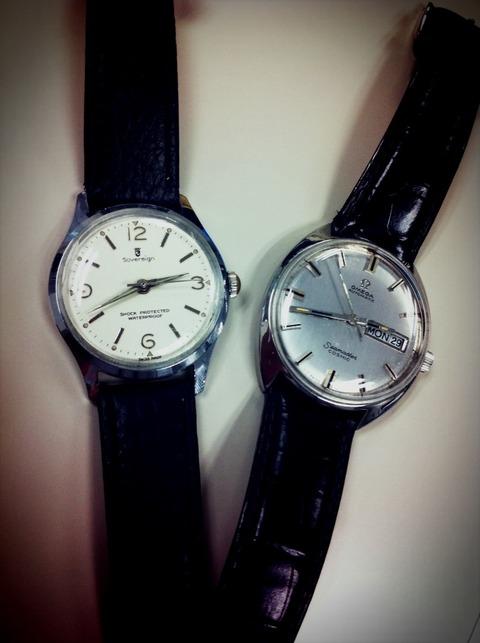 Omega シーマスターコスミックと再生時計