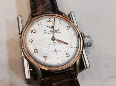 Cortebert手巻き時計の調整