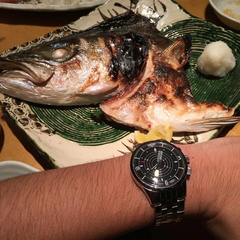 魚とVulcain Cricket Nautical、と、最後にラーメン