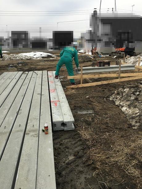 杭工事の開始です�竹中組
