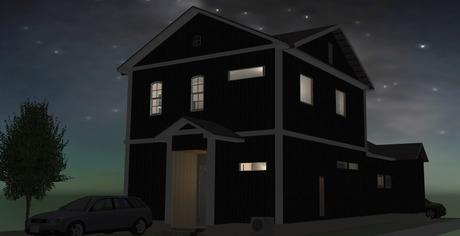 �竹中組 三角屋根のモダン二世帯ハイブリッド住宅