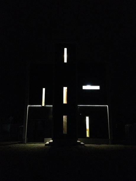 家?変な光。�竹中組滝川市