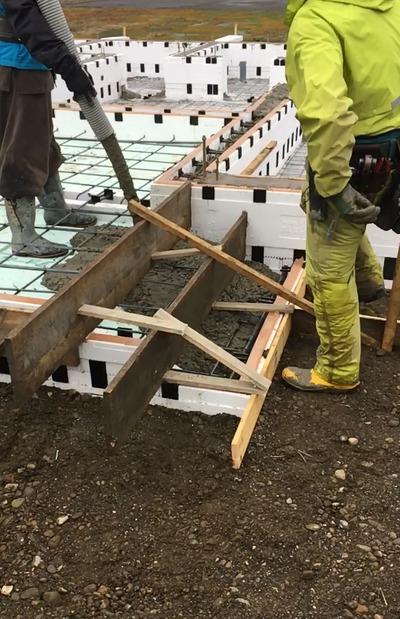 コンクリート打設が始まりました