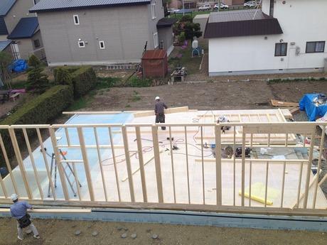 基礎工事もきれいに終わり、本建て方の始まり�竹中組