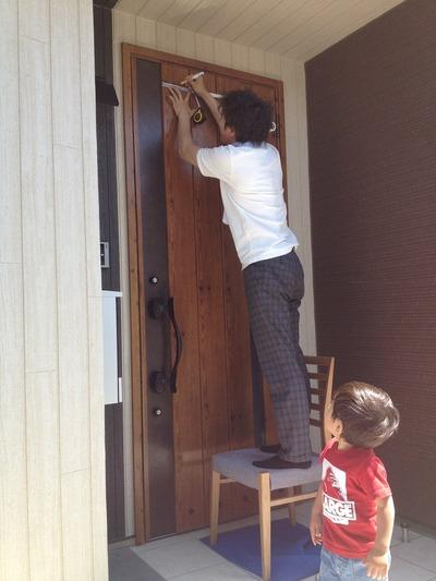 玄関ドアをカスタマイズ♪竹中組