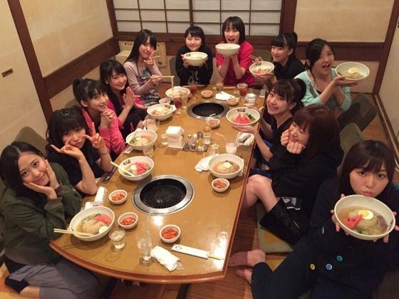 モーニング娘。'16メンバー全員で冷麺キタ━━━━(゚∀゚)━━━━!!!!