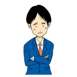 悩むスーツ男性2