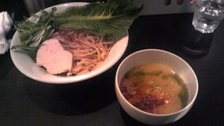 楽々   超ベジポタつけ麺〜三色の輝き〜