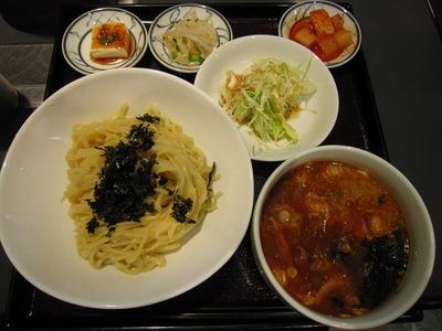 百済カルビ 辛口つけ麺