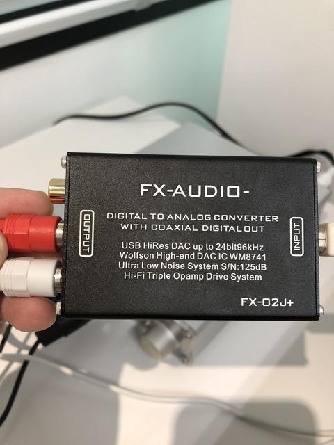 WM8741搭載USB DAC FX-02J+ 買った