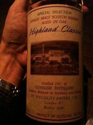 久しぶりに訪ねたバーでClynelish 1992の飲み比べ。