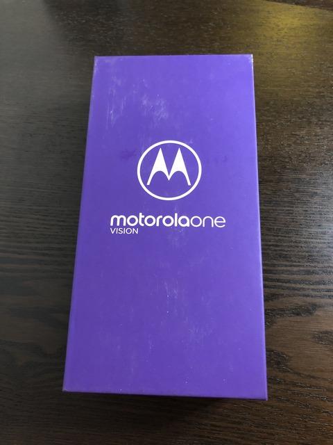 Motorola One Vision 買った
