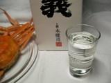 日本酒とセイコガニ